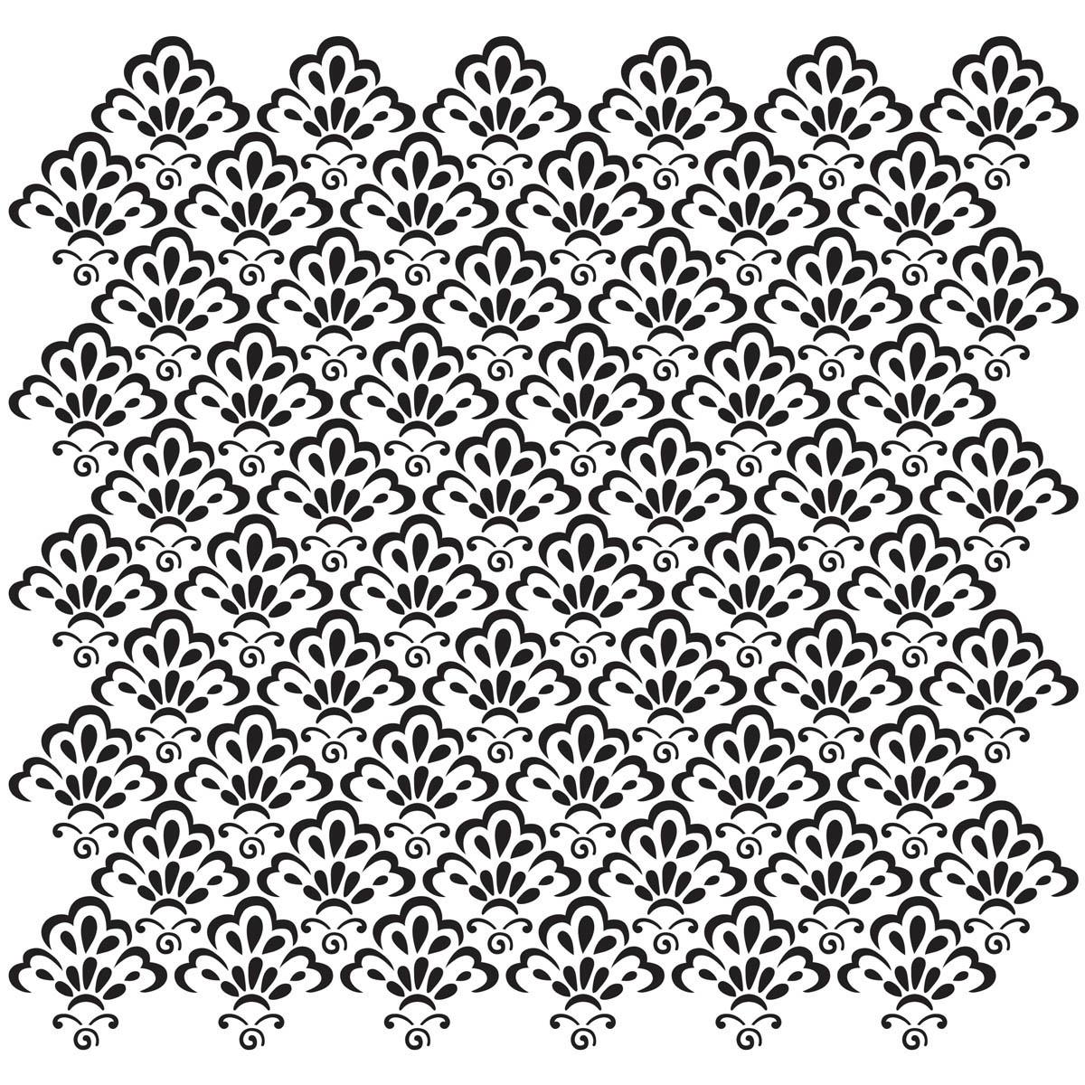 Waverly ® Inspirations Laser Stencils - Décor - Scallop, 12