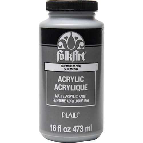 FolkArt ® Acrylic Colors - Medium Gray, 16 oz. - 6372