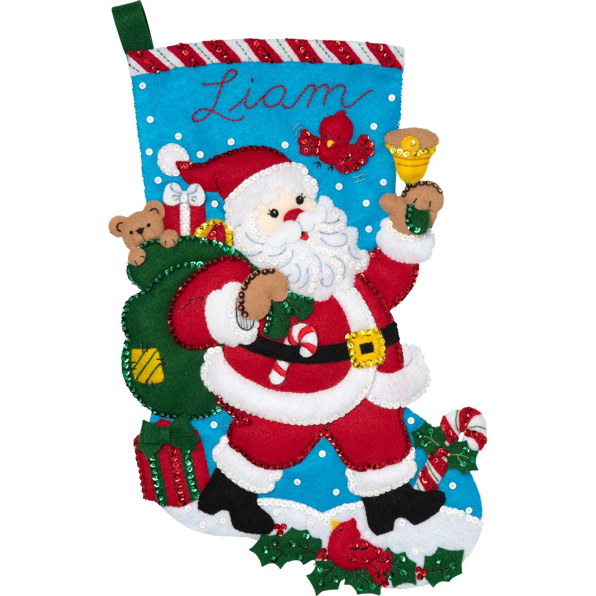 Bucilla ® Seasonal - Felt - Stocking Kits - Santa Bell Ringer - 86902E