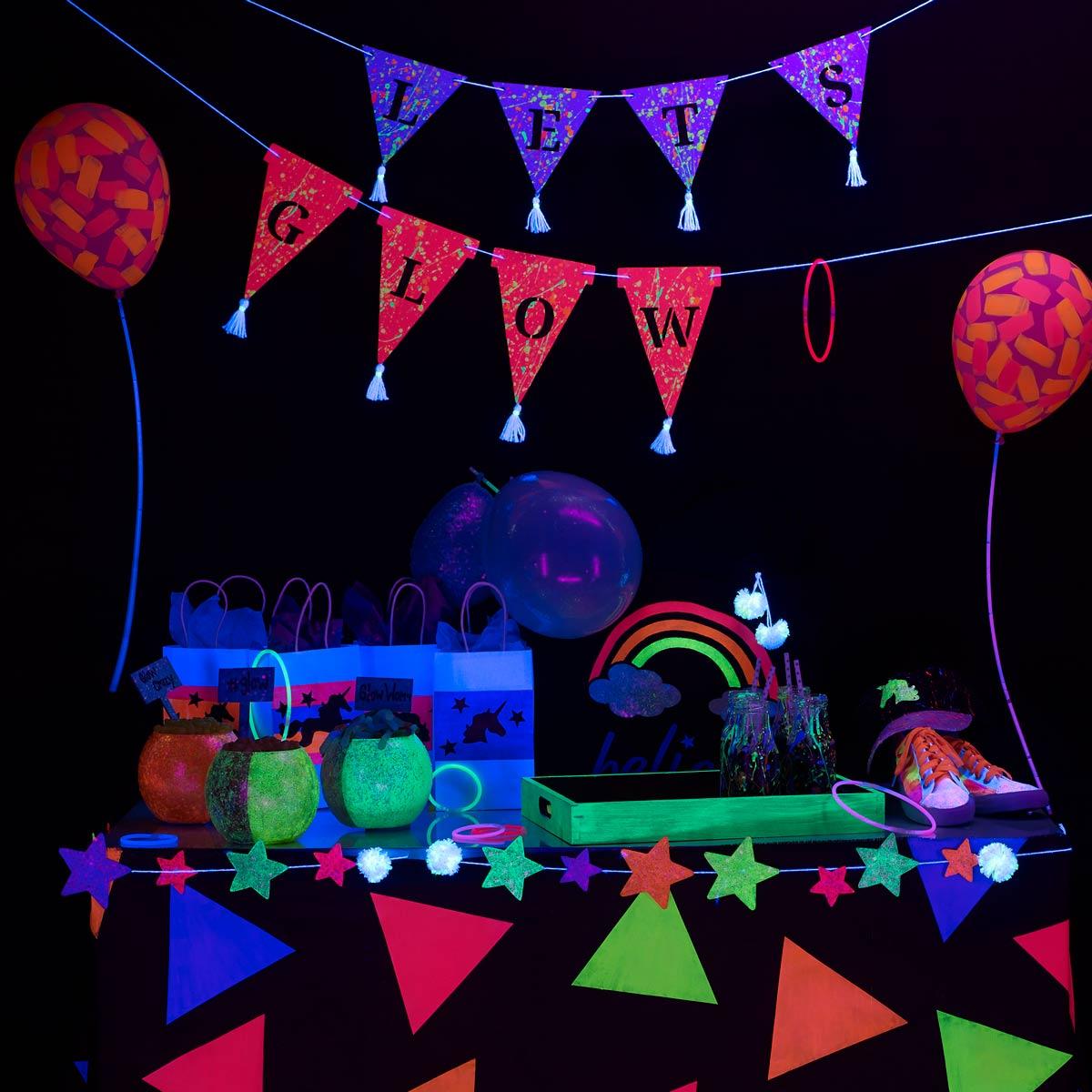 Glow-in-the-Dark Brushstroke Balloons