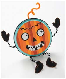 Poseable Pumpkin Plaque