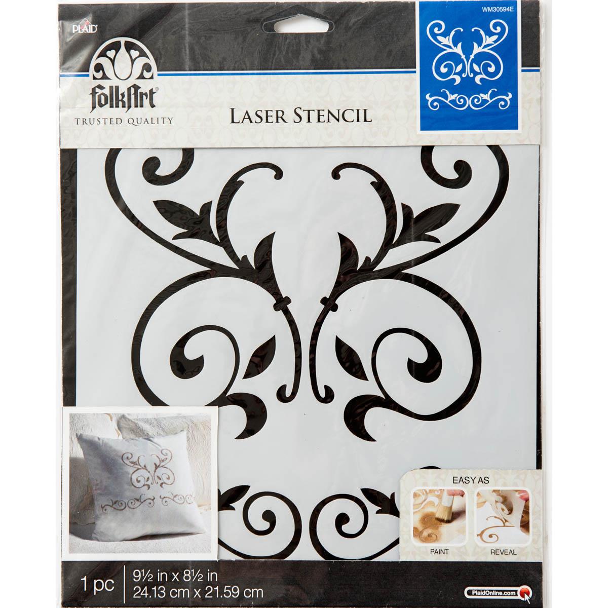 FolkArt ® Painting Stencils - Large - Scroll