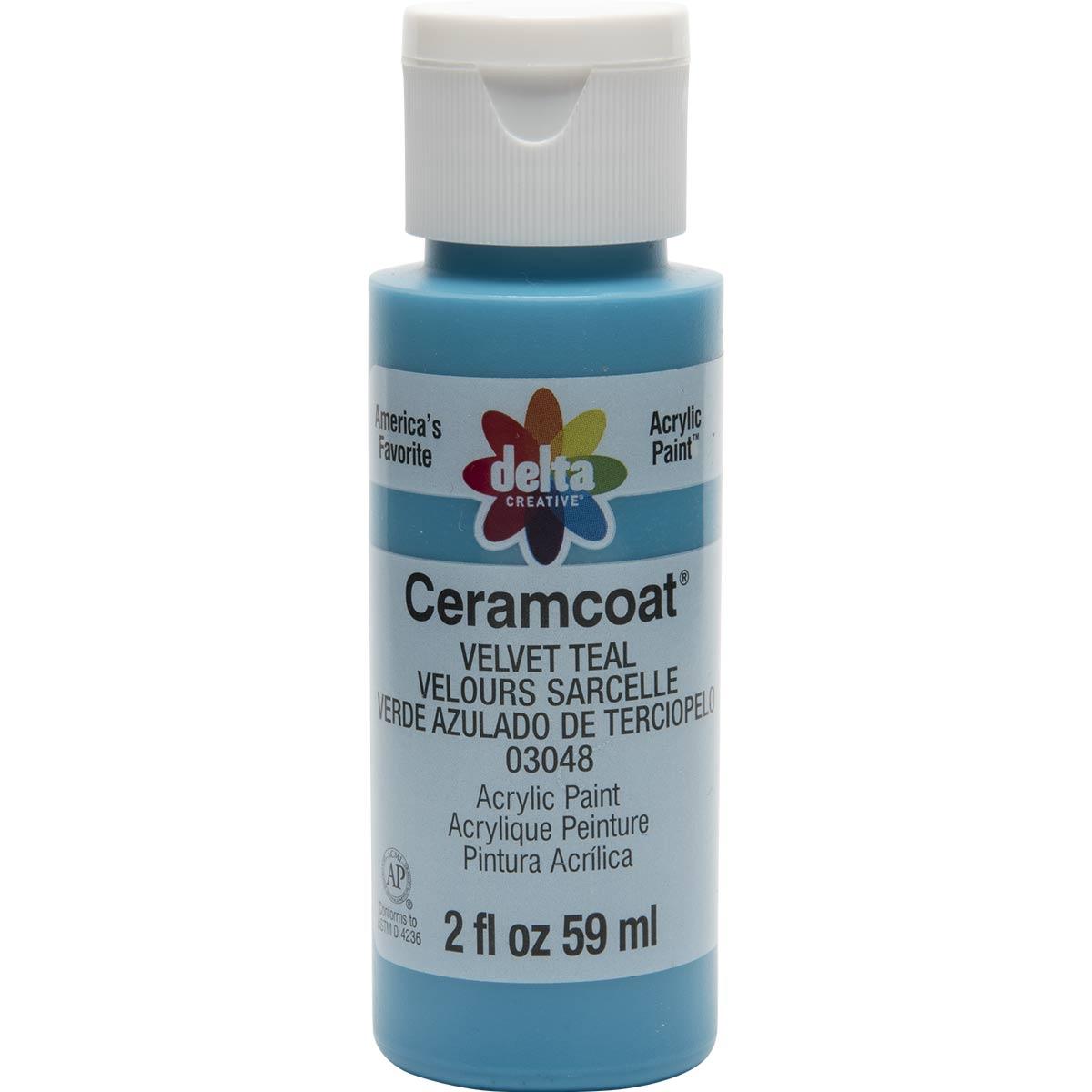 Delta Ceramcoat ® Acrylic Paint - Velvet Teal, 2 oz. - 03048