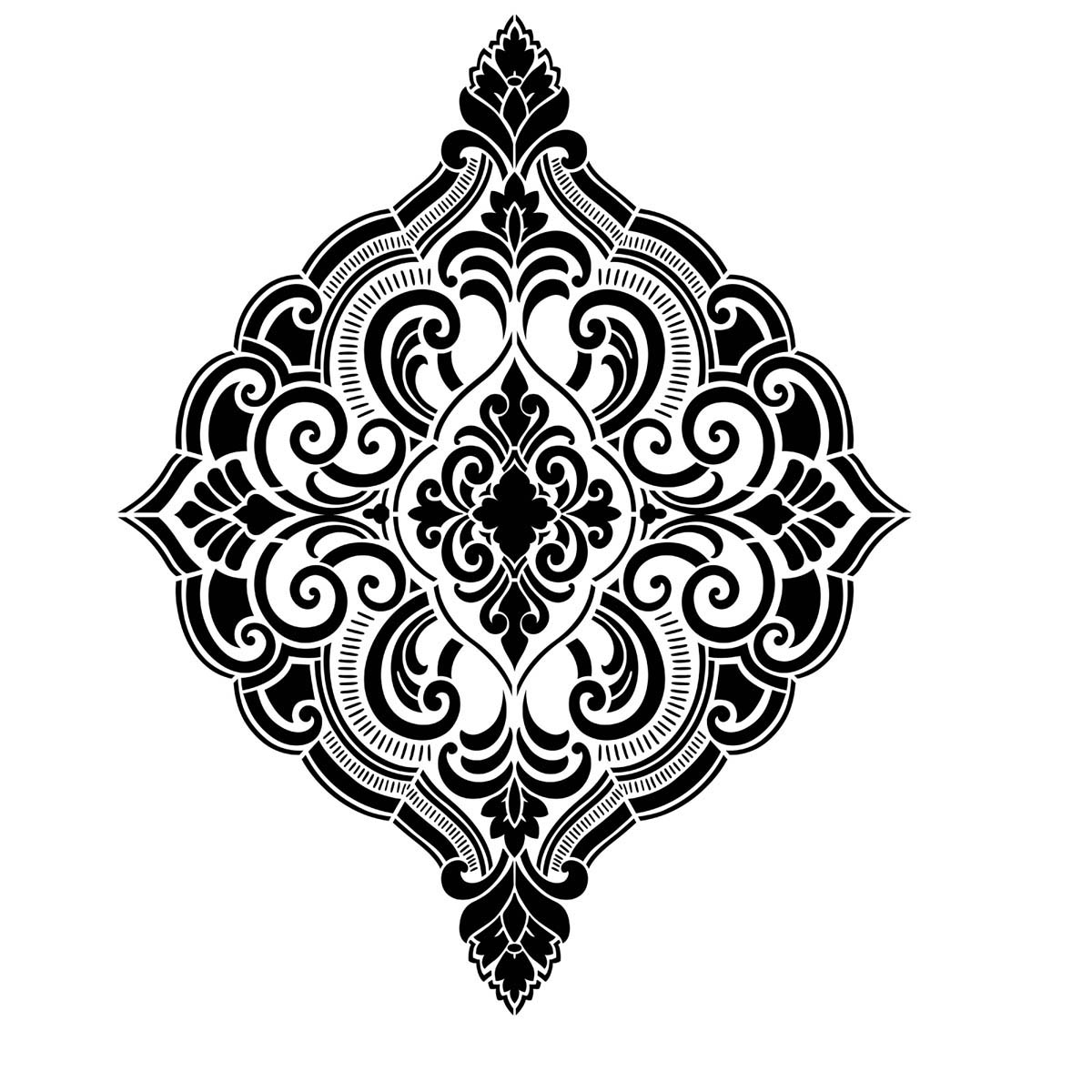 FolkArt ® Painting Stencils - Wall, Floor & Furniture - Ornate Damask