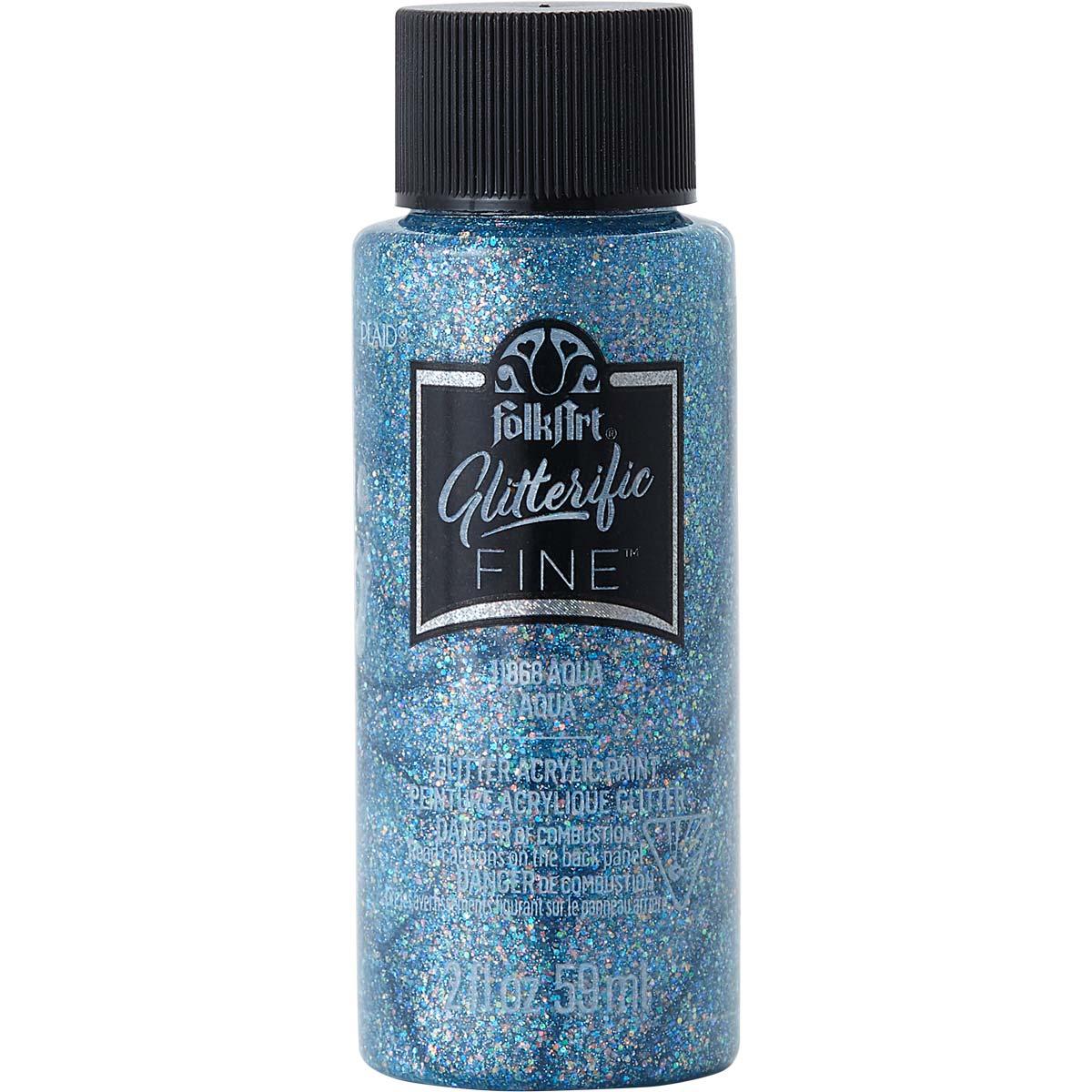 FolkArt ® Glitterific Fine™ Acrylic Paint - Aqua, 2 oz. - 11868