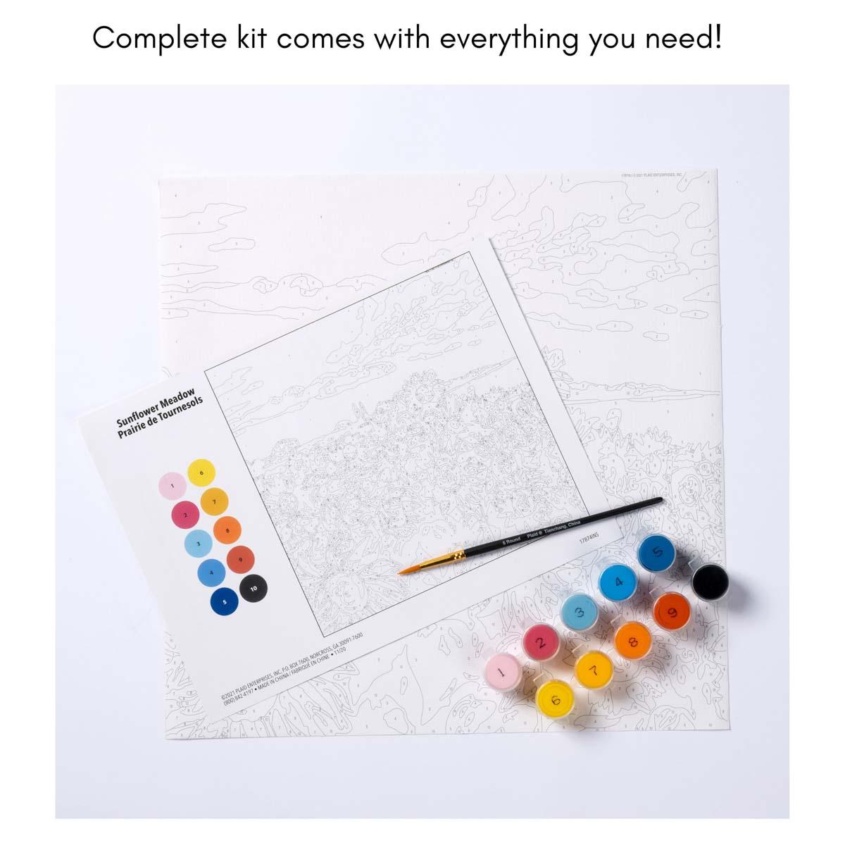 Plaid ® Let's Paint™ Modern Paint-by-Number - Poinsettia - 17917