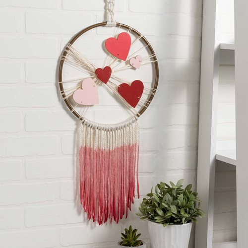 Valentines Heart and Yarn Wall Hanging