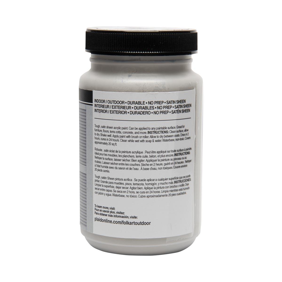 FolkArt ® Outdoor™ Acrylic Colors - Light Gray, 8 oz.