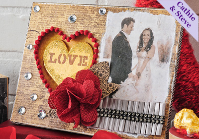 Romantic Collage Valentine Frame