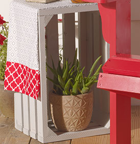 Upcycled Crate Side Table with Runner