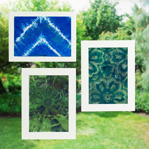Shibori-Style Gallery Glass Clings