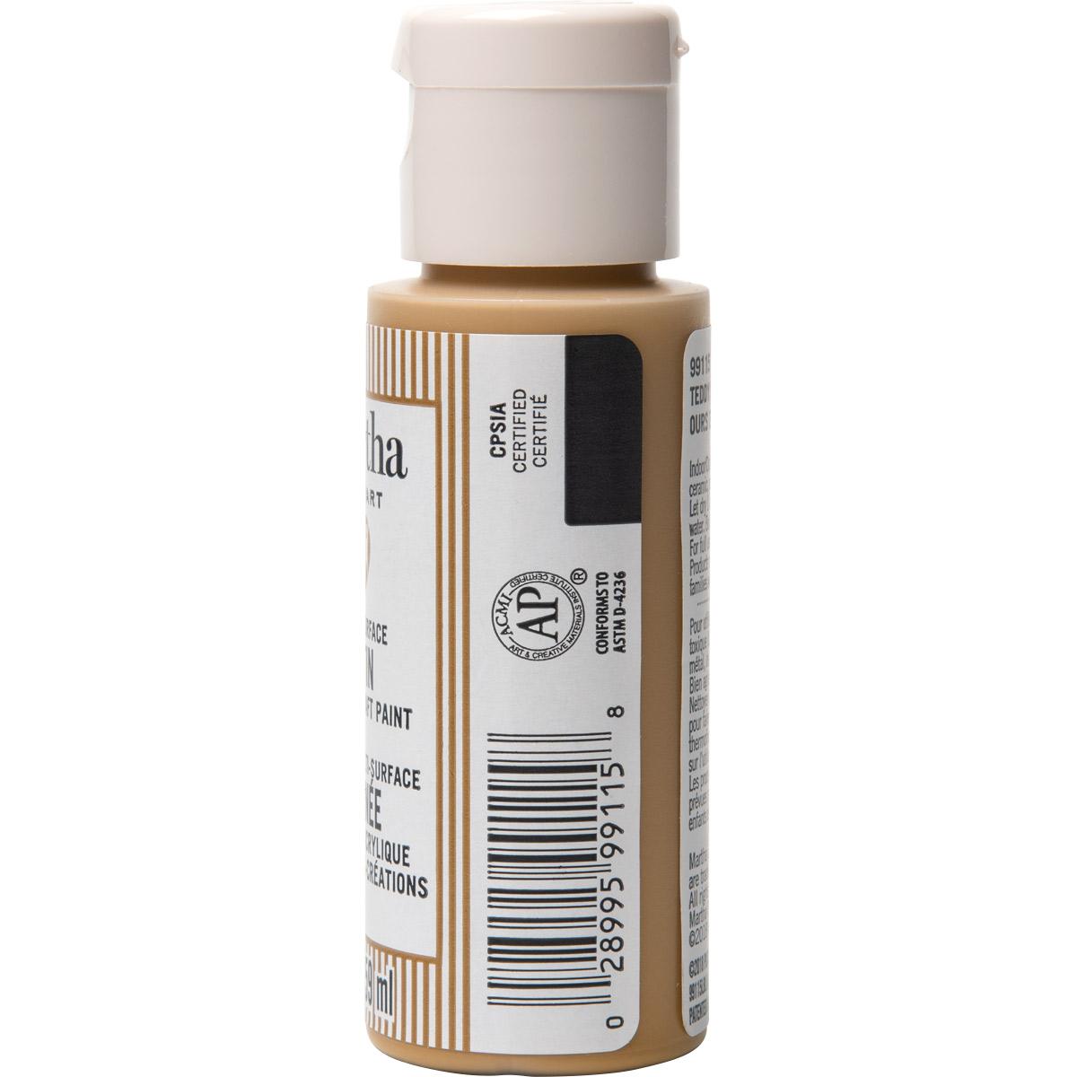 Martha Stewart® 2oz Multi-Surface Satin Acrylic Craft Paint - Teddy Bear