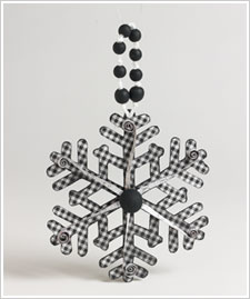 Black and White Snowflake Ornament
