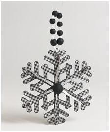 Black and White Snowflake Ornament