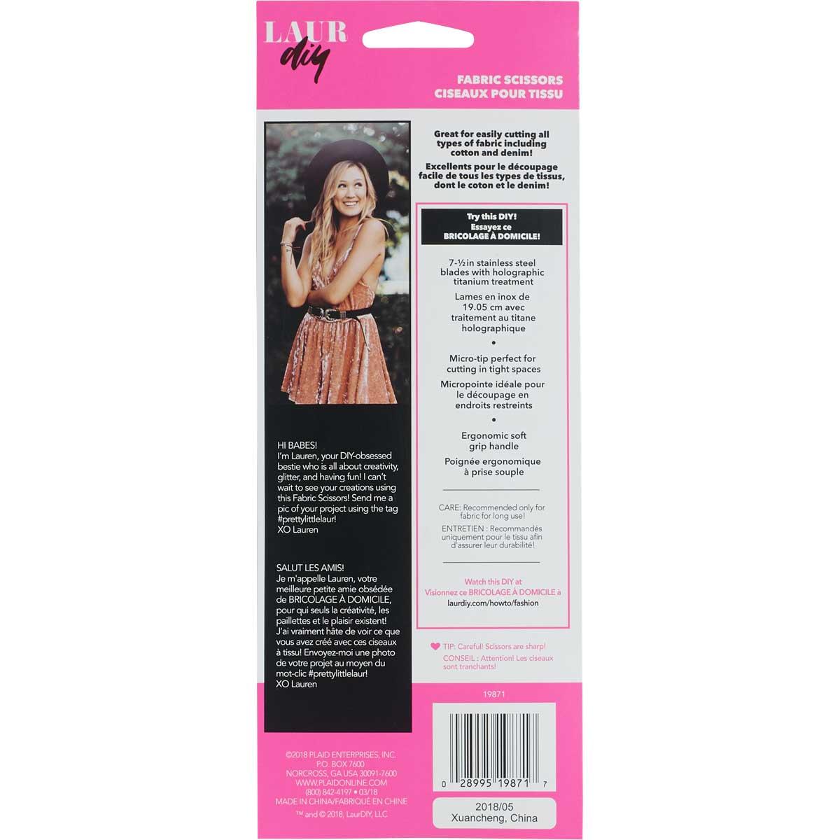 LaurDIY ® Accessories - Fabric Scissors, 7-1/2