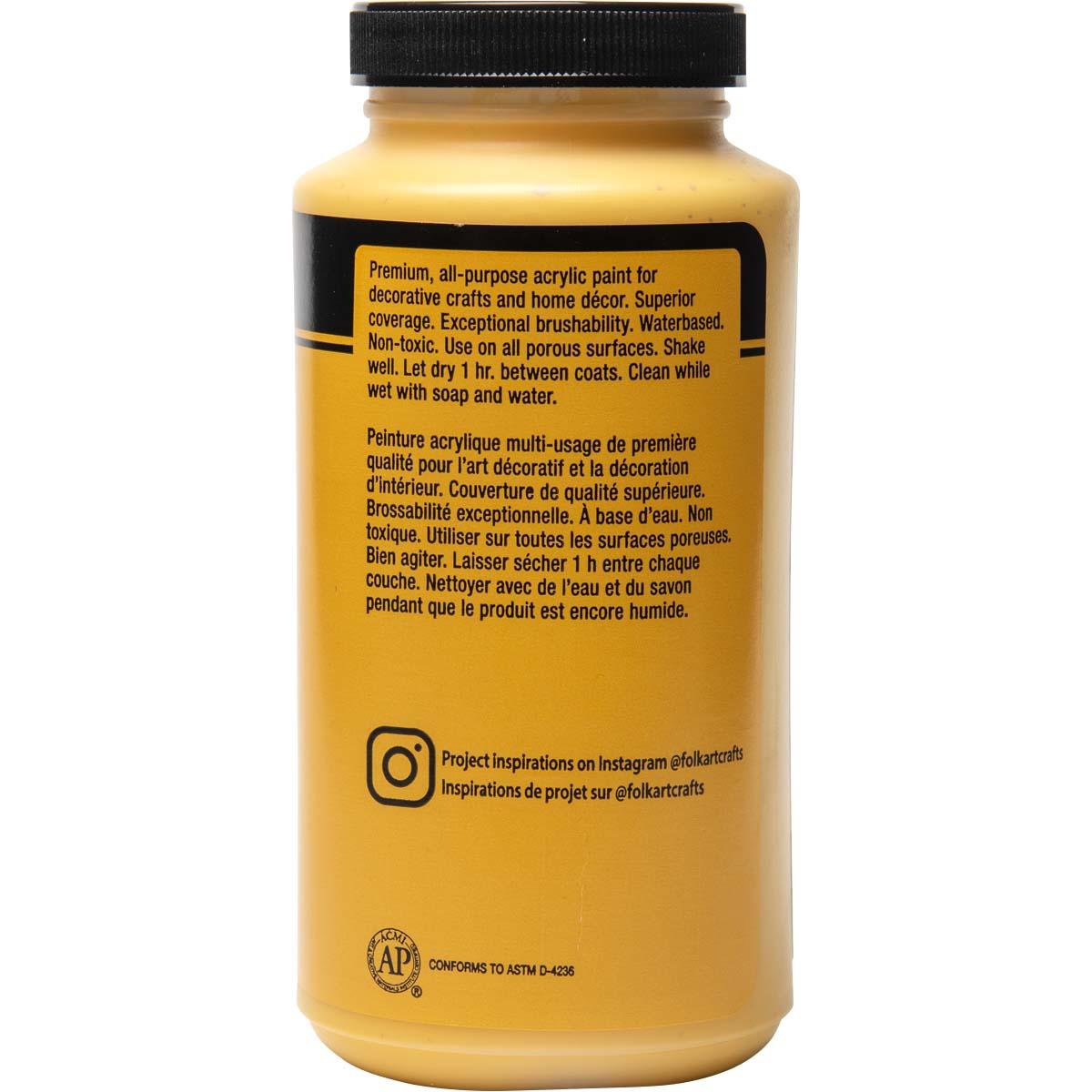 FolkArt ® Acrylic Colors - School Bus Yellow, 16 oz. - 6366