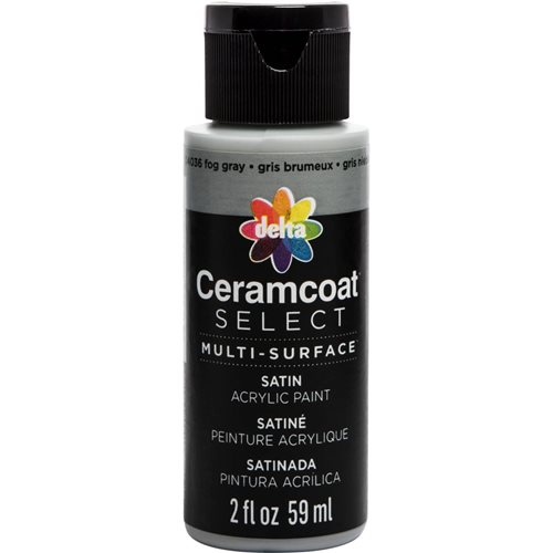 Delta Ceramcoat ® Select Multi-Surface Acrylic Paint - Satin - Fog Gray, 2 oz.