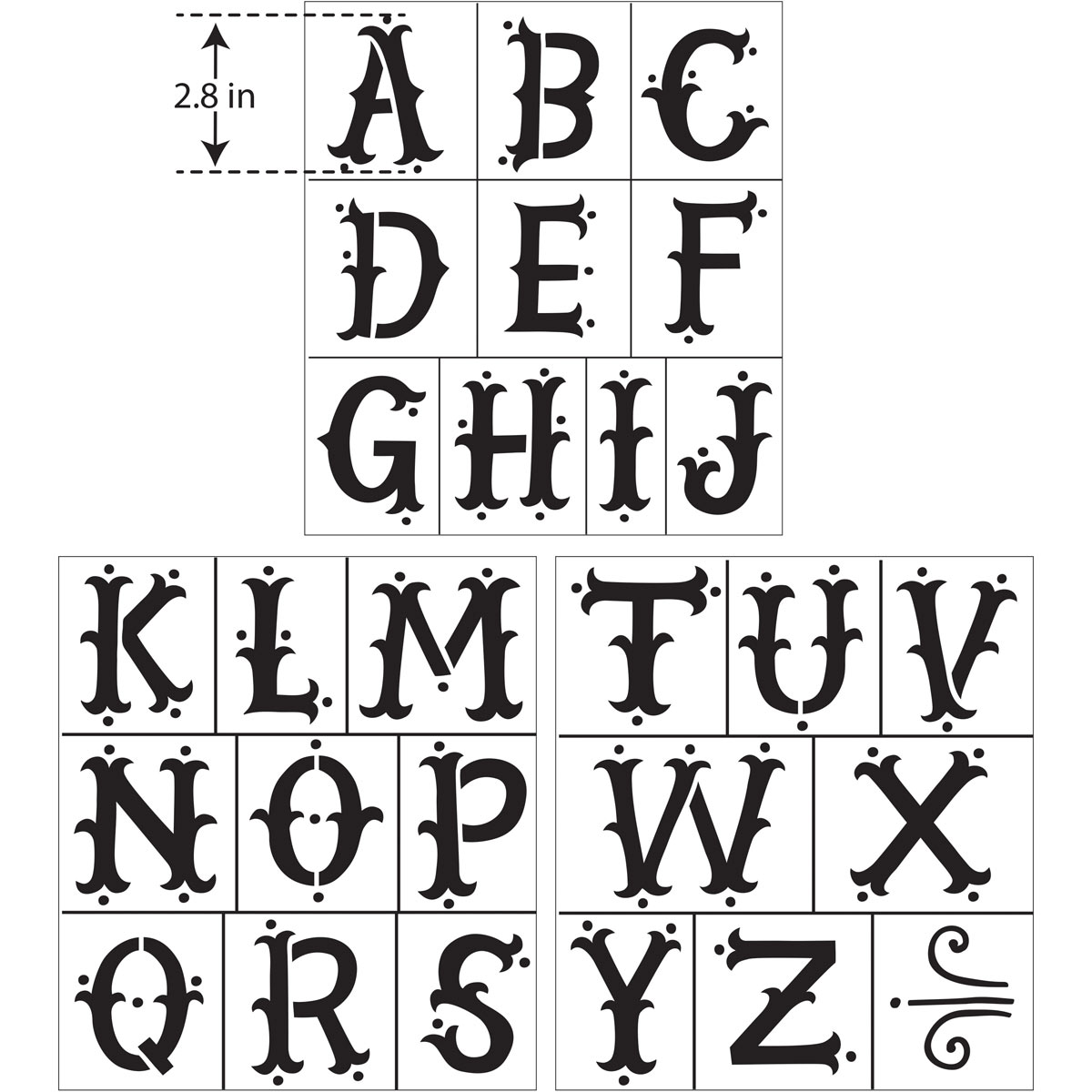 Hallmark Handcrafted Adhesive Stencils - Enchanting Font, 8-1/2