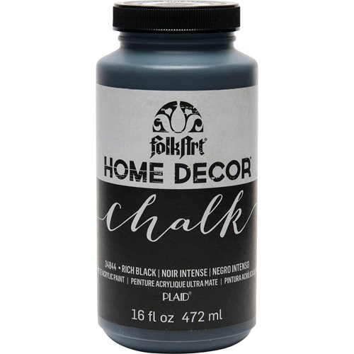 FolkArt ® Home Decor™ Chalk - Rich Black, 16 oz.
