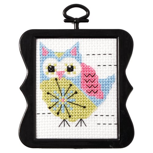 Bucilla ® Counted Cross Stitch - Beginner Stitchery - Mini - Flower Owl