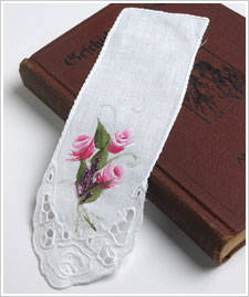 Decorative Rosebud Bookmark