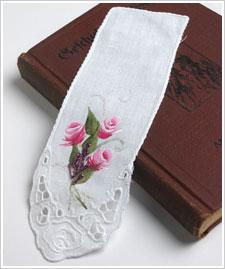 Decorative Rosebud Bookmark