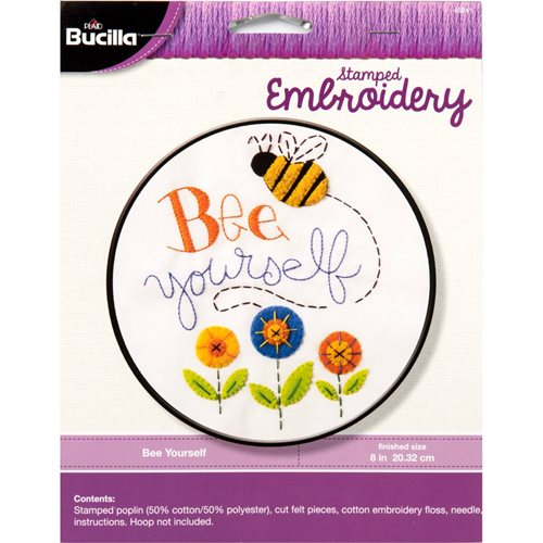 Bucilla ® Stamped Embroidery - Bee Yourself