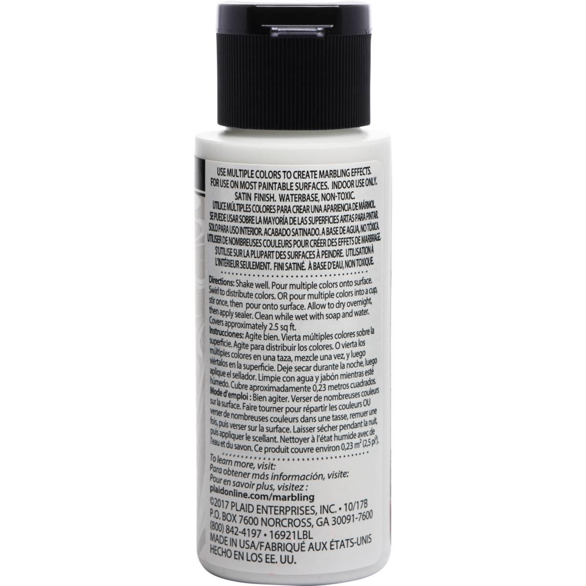 FolkArt ® Marbling Paint - White, 2 oz. - 16921