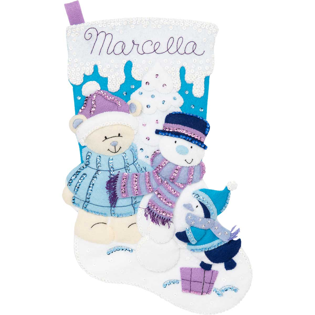 Bucilla ® Seasonal - Felt - Stocking Kits - Hallmark - Wintry Wonderland