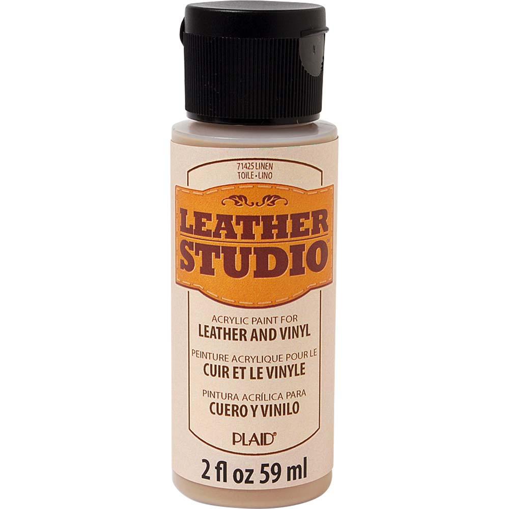 Leather Studio™ Leather & Vinyl Paint Colors - Linen, 2 oz. - 71425