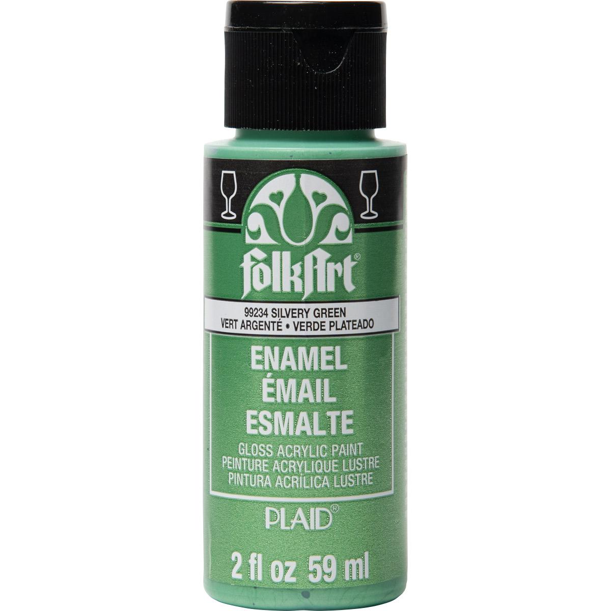 FolkArt ® Enamels™ - Metallic Silvery Green, 2 oz.