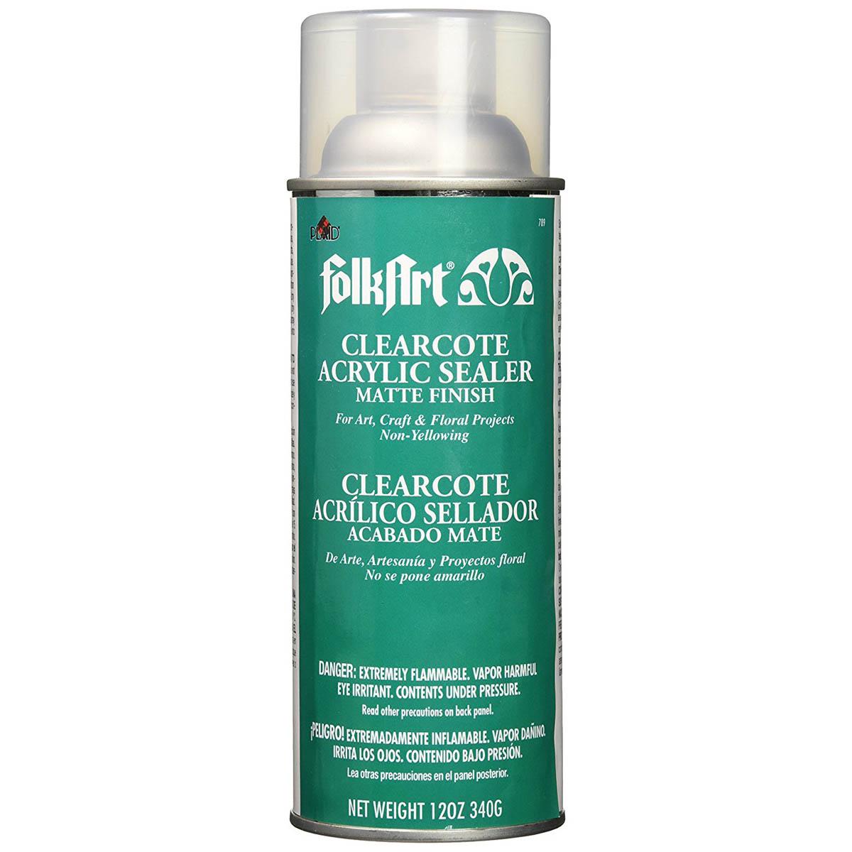 FolkArt ® Finishes - Clearcote™ Aerosol Acrylic Sealer - Matte, 12 oz. - 789