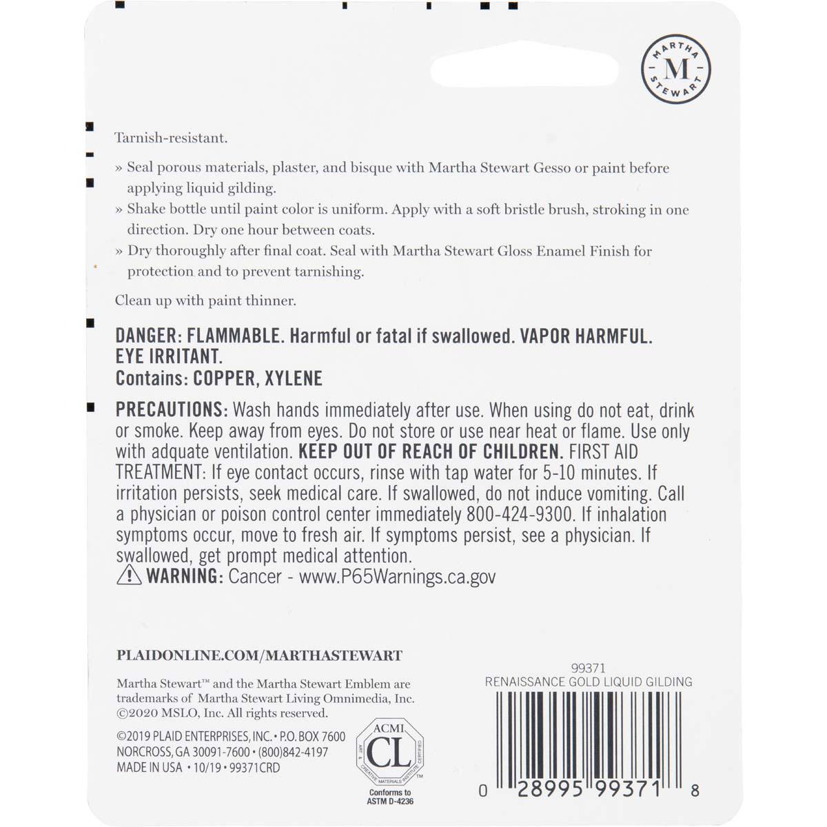 Martha Stewart ® Liquid Gilding, 3/4 oz. Renaissance Gold - 99371