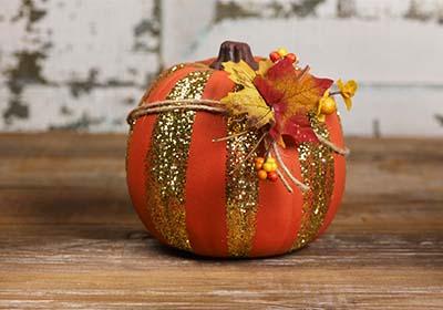 Gold Painted Pumpkin