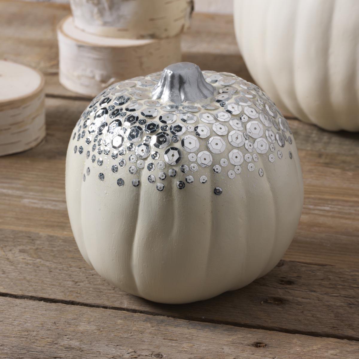Silver Sequin Pumpkin