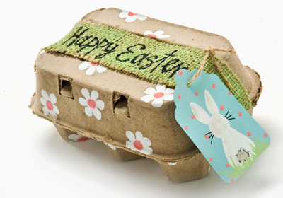 Recycled Daisy Egg Carton for Easter Treats