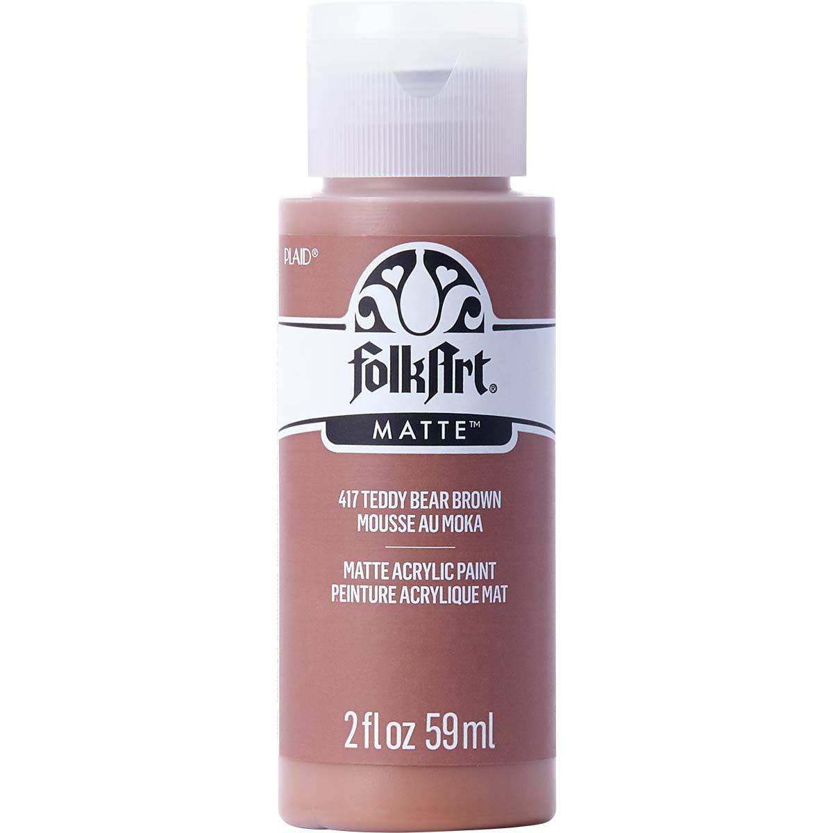 FolkArt ® Acrylic Colors - Teddy Bear Brown, 2 oz. - 417