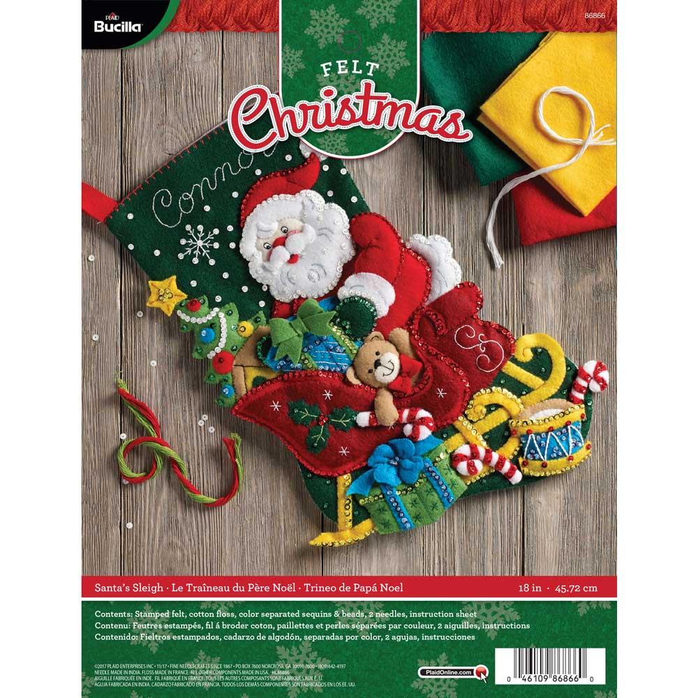 Bucilla ® Seasonal - Felt - Stocking Kits - Santa's Sleigh - 86866
