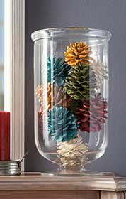 Holiday Pinecone Home Decor