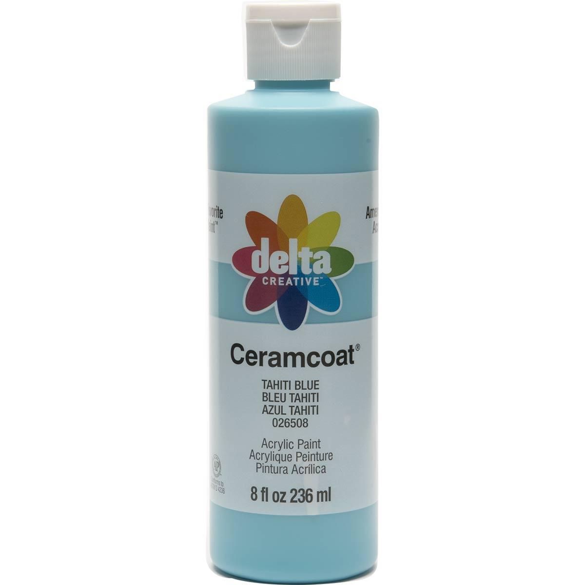 Delta Ceramcoat ® Acrylic Paint - Tahiti Blue, 8 oz.
