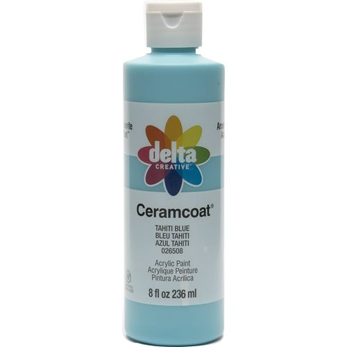 Delta Ceramcoat ® Acrylic Paint - Tahiti Blue, 8 oz. - 026508
