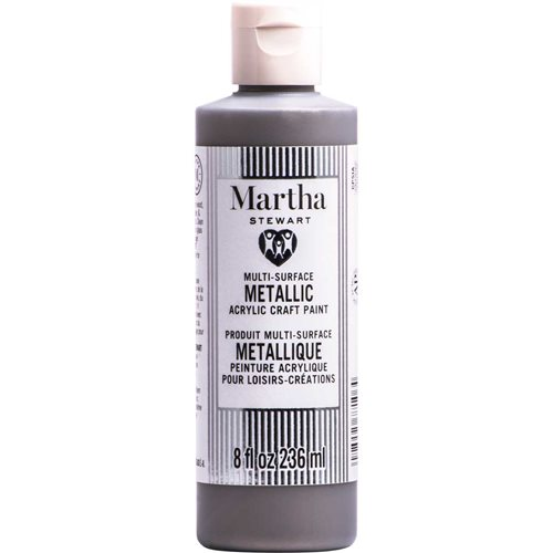 Martha Stewart ® Multi-Surface Metallic Acrylic Craft Paint CPSIA - Royal Silver, 8 oz.