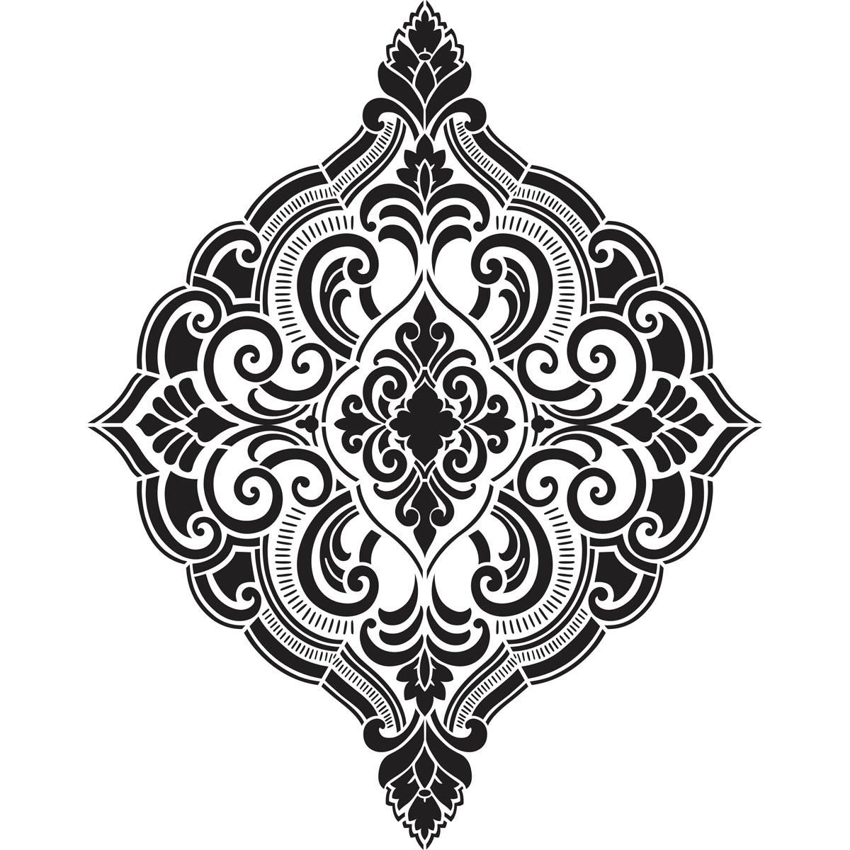 FolkArt ® Home Decor™ Wall Stencils - Ornate Damask