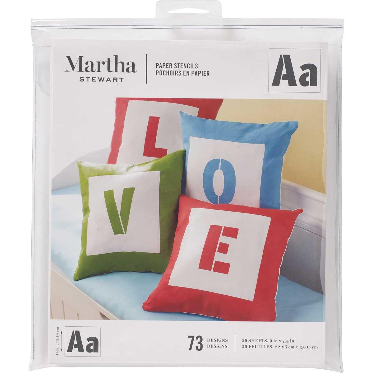 Martha Stewart® Sans Serif Alphabet Paper Stencils
