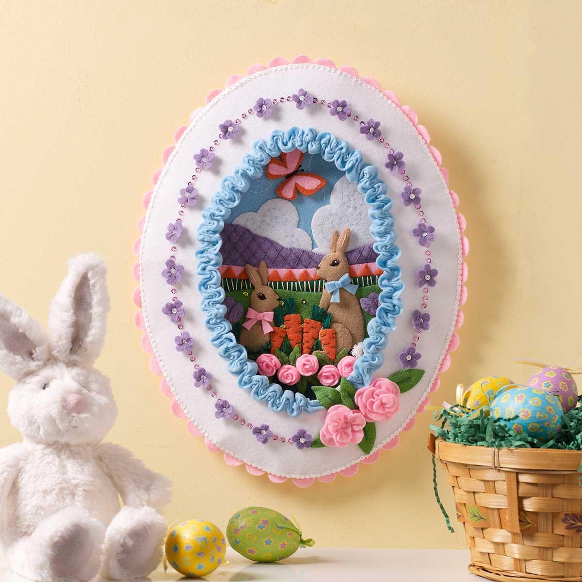 Bucilla ® Seasonal - Felt - Home Decor - Sugared Easter Egg Wall Hanging - 86727
