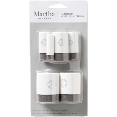 Martha Stewart ® Brush Sets - Foam Pouncers Set - 6pc