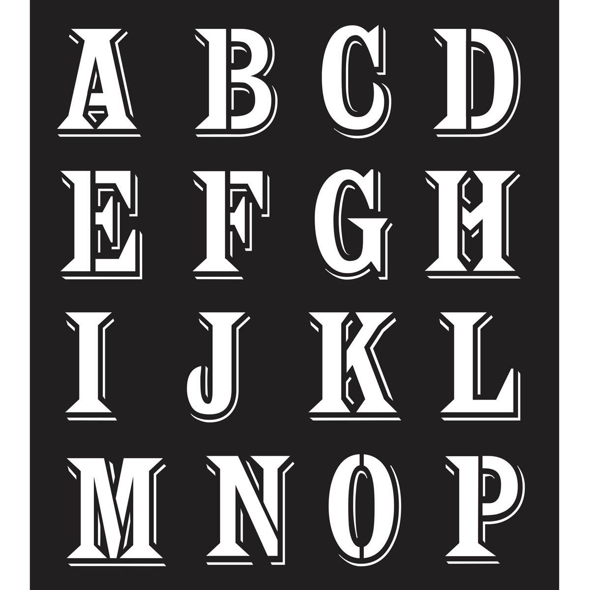 FolkArt ® Painting Stencils - Alphabet Peddler