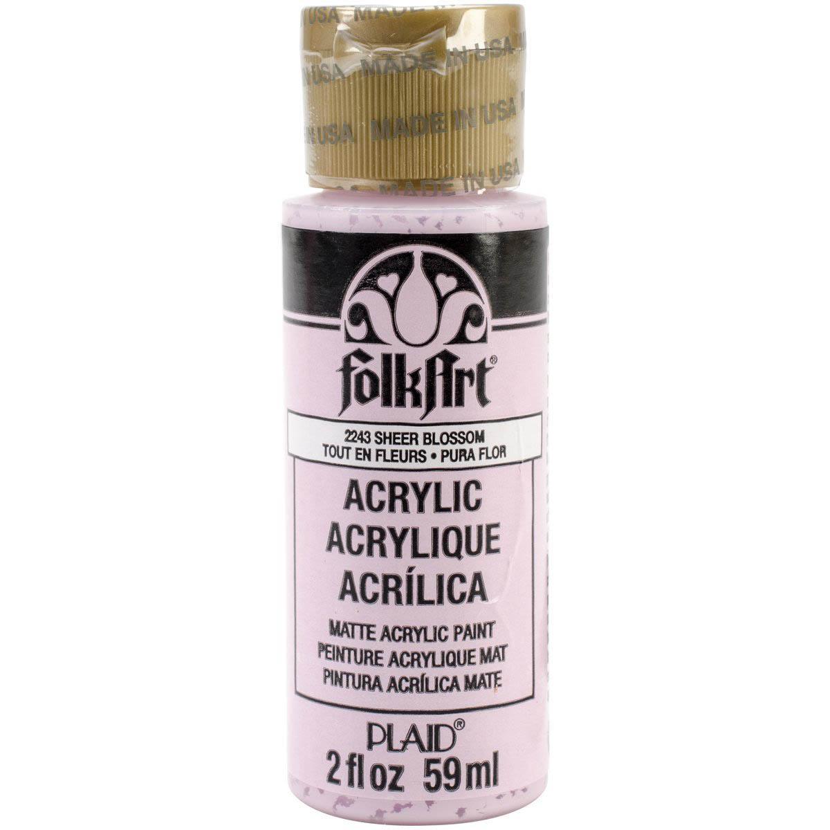 FolkArt ® Acrylic Colors - Sheer Blossom, 2 oz.