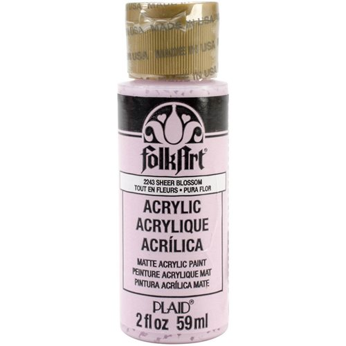 FolkArt ® Acrylic Colors - Sheer Blossom, 2 oz.