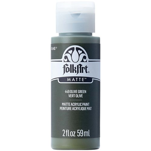 FolkArt ® Acrylic Colors - Olive Green, 2 oz. - 449